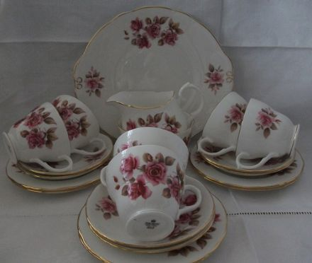 Vintage Bone China Teaset by Duchess - Roses